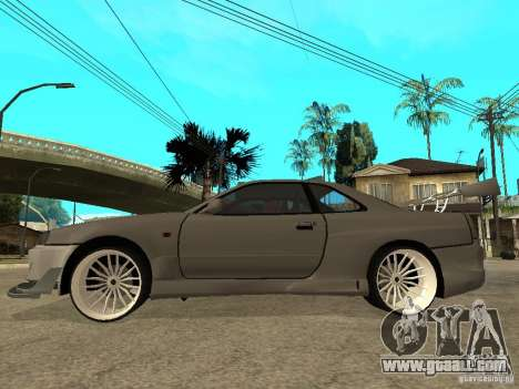 Nissan Skyline R 34 Need For Speed Carbon for GTA San Andreas back left view