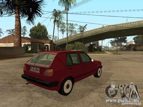 Volkswagen Golf MKII 5dr for GTA San Andreas back left view