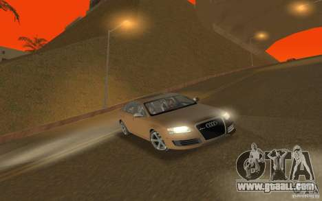 Audi RS6 TT Black Revel for GTA San Andreas back view