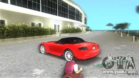 Dodge Viper SRT 10 Coupe for GTA Vice City back left view