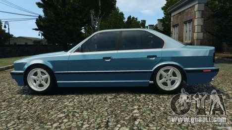 BMW E34 V8 540i for GTA 4 left view