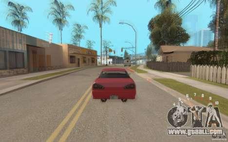 Digital speedometer and tachometer for GTA San Andreas third screenshot
