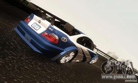 BMW M3 GTR for GTA San Andreas inner view