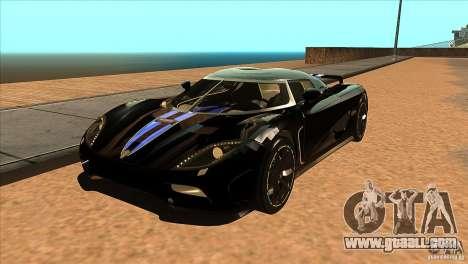 Koenigsegg Agera 2010 for GTA San Andreas