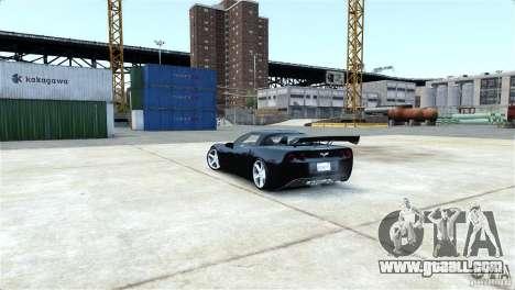 Chevrolet Corvette C6 Convertible v1.0 for GTA 4 upper view