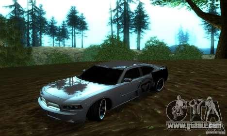 Dodge Charger SRT8 Mopar for GTA San Andreas back view