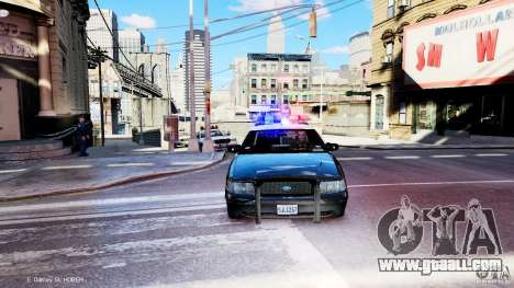CVPI LCPD San Diego Police Department for GTA 4 back view