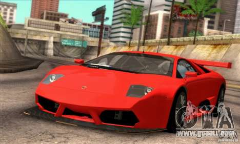 Lamborghini Murcielago R-SV GT1 for GTA San Andreas inner view