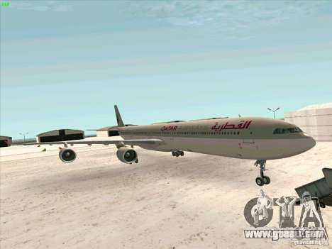 Airbus A-340-600 Quatar for GTA San Andreas