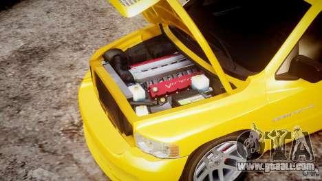 Dodge Ram SRT-10 2003 1.0 for GTA 4 upper view