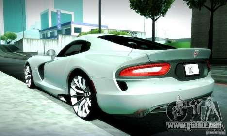 Dodge Viper SRT  GTS for GTA San Andreas side view