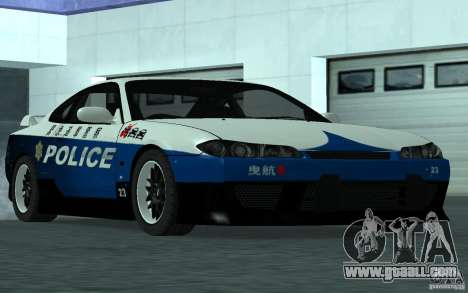 Nissan Silvia S15 Police for GTA San Andreas right view