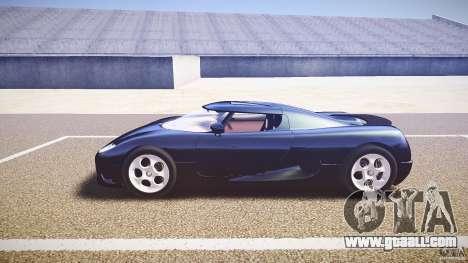 Koenigsegg CC8S 2002 for GTA 4 inner view