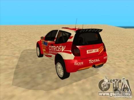 Citroen Rally Car for GTA San Andreas right view