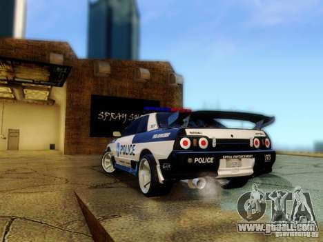 Nissan Skyline R32 Police for GTA San Andreas left view