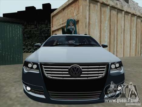 Volkswagen Passat B6 Variant Stance 2007 for GTA San Andreas left view
