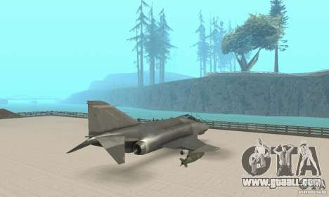 F-4E Phantom II for GTA San Andreas left view