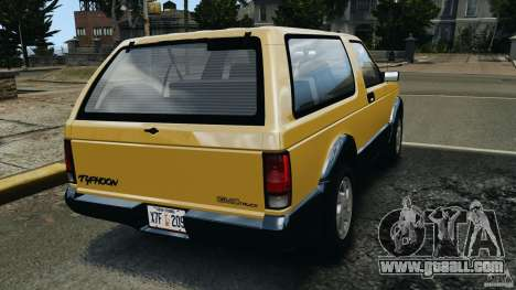 GMC Typhoon v1.1 for GTA 4 back left view