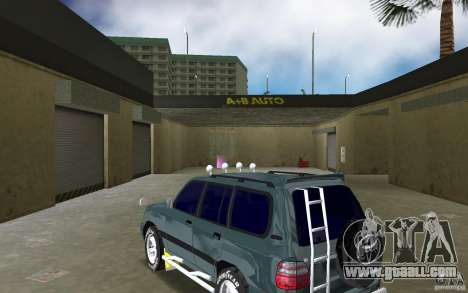 Toyota Land Cruiser 100 for GTA Vice City back left view