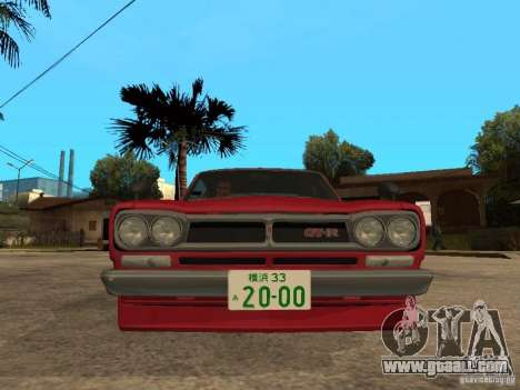 Nissan Skyline 2000 GT-R for GTA San Andreas right view