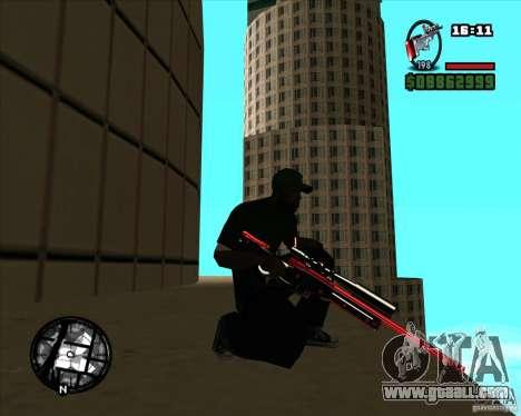 Chrome black red gun pack for GTA San Andreas