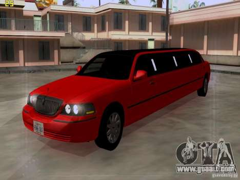 Lincoln Towncar 2010 for GTA San Andreas