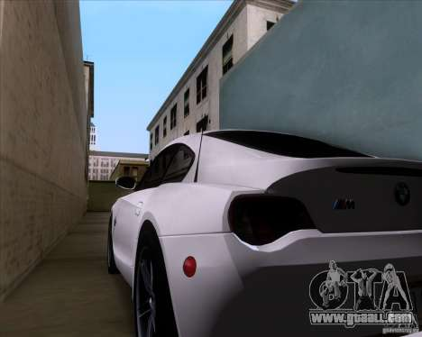 BMW Z4 M Coupe for GTA San Andreas side view