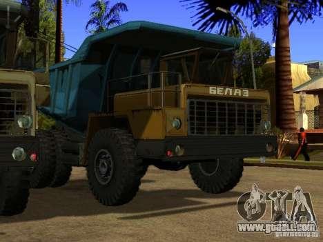 BELAZ 540 for GTA San Andreas left view