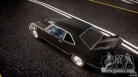Chevrolet Nova 1969 for GTA 4 bottom view