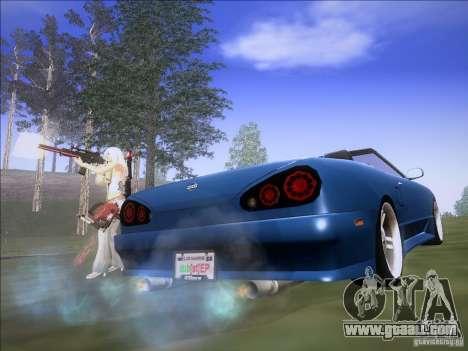 Elegy Cabrio Edition for GTA San Andreas back left view