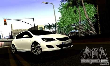 Opel Astra Senner for GTA San Andreas inner view