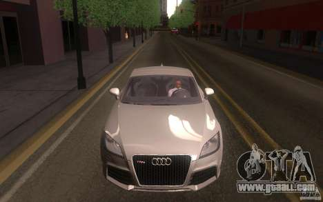 Audi TT RS for GTA San Andreas back view