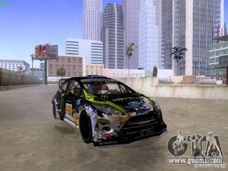 Ken Block Ford Fiesta 2012 for GTA San Andreas right view