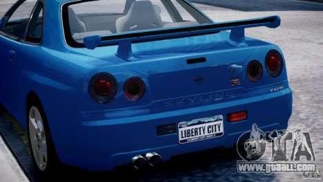Nissan Skyline GT-R 34 V-Spec for GTA 4 wheels