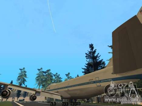 Boeing 747-100 Pan American Airways for GTA San Andreas back left view