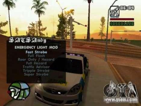 Emergency Lights for GTA San Andreas