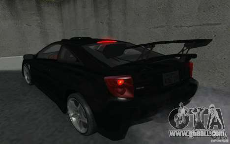 Toyota Celica for GTA San Andreas bottom view