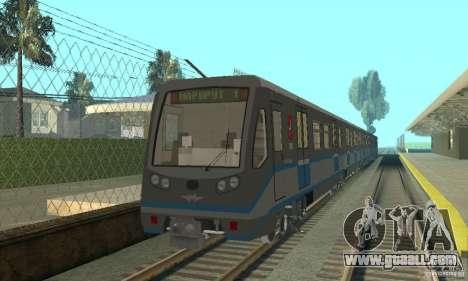 Rusich 4 train for GTA San Andreas left view