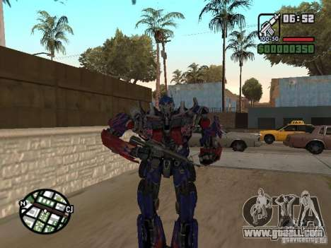 Optimus Prime for GTA San Andreas forth screenshot