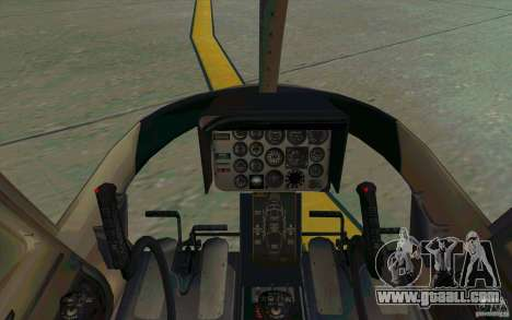 Bell 206 B Police texture2 for GTA San Andreas inner view