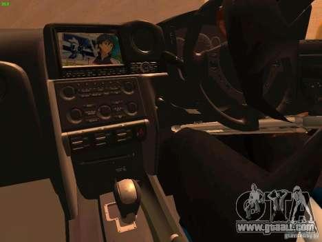 Nissan GT-R SpecV Black Revel for GTA San Andreas side view
