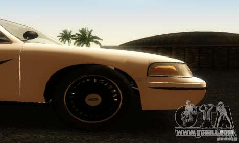 Ford Crown Victoria Washington Police for GTA San Andreas right view