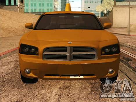 Dodge Charger STR8 Taxi for GTA San Andreas back view