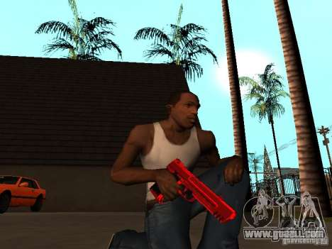 Red Chrome Weapon Pack for GTA San Andreas fifth screenshot
