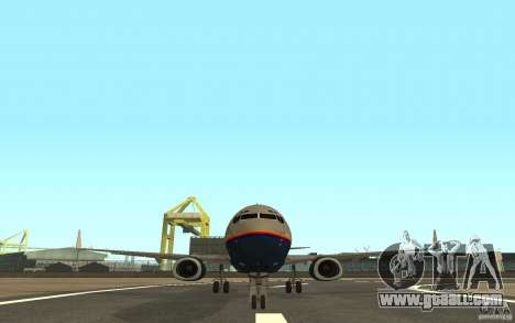Boeing 737-800 for GTA San Andreas back left view
