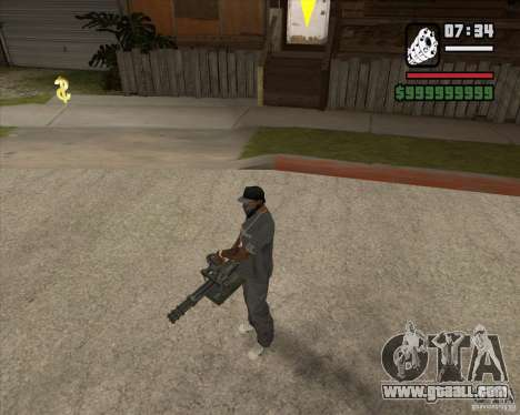 Hand Held M134 Minigun for GTA San Andreas