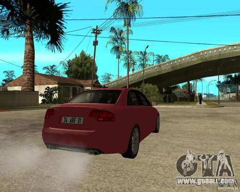 Audi S4 tunable for GTA San Andreas back left view