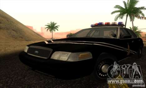 Ford Crown Victoria Idaho Police for GTA San Andreas
