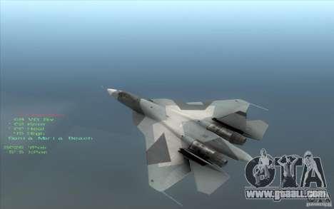SU t-50 Pak FA for GTA San Andreas left view