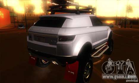 Land Rover Evoque for GTA San Andreas right view